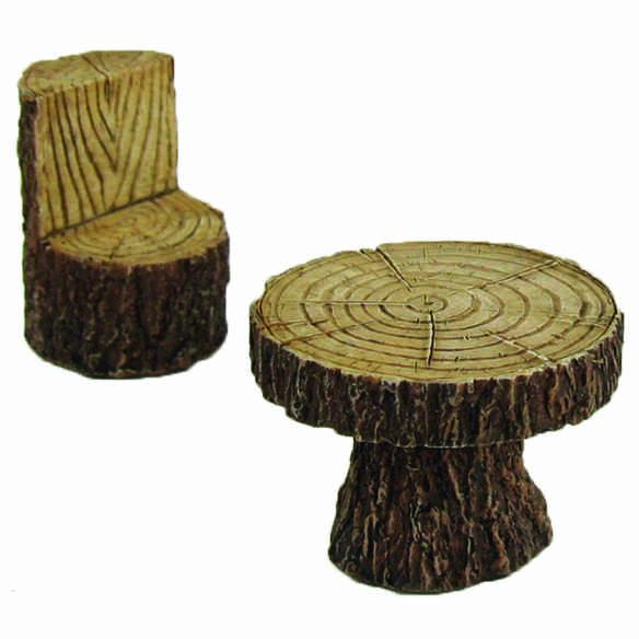 Mini Garten Shop Tisch Mit Stuhl In Holzoptik