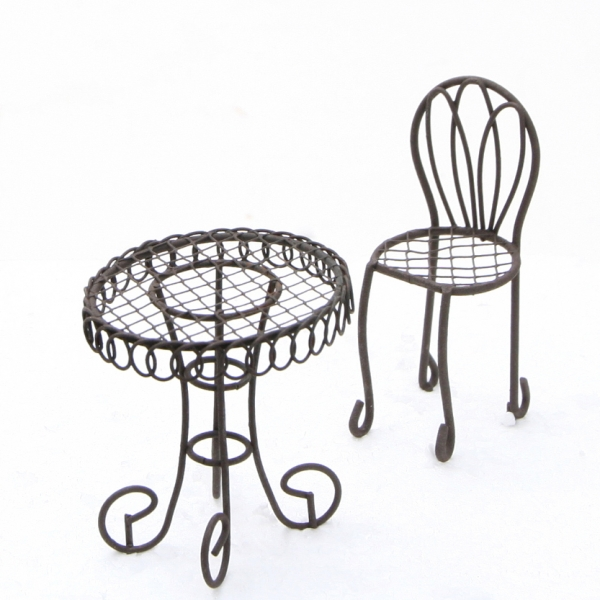 Mini Garten Shop Tisch Stuhl Set